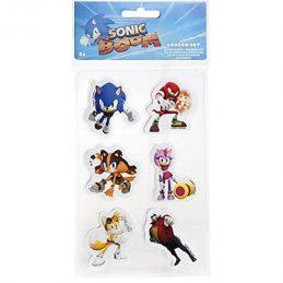 Set 6 Gomas de Borrar Sonic...