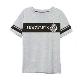 Camiseta Hogwarts Gris...