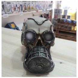 Calavera Máscara de Gas Plateada
