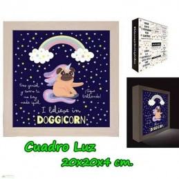Cuadro Caja de Luz Doggicorn
