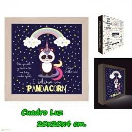 Cuadro Caja de Luz Pandacorn