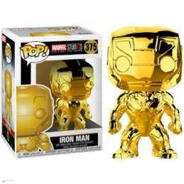 Funko POP IRON MAN 375 Marvel Studios 10 CROMADO