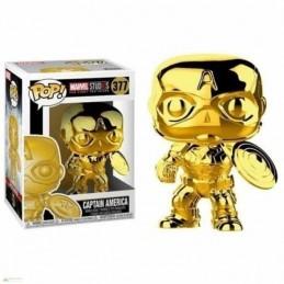 Funko POP CAPITÁN AMÉRICA 377 Marvel Studios 10 CROMADO