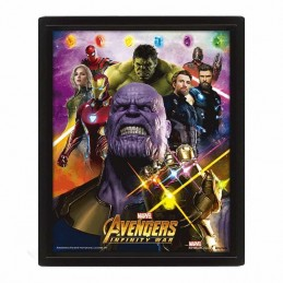 Cuadro Poster 3D AVENGERS INFINITY WAR