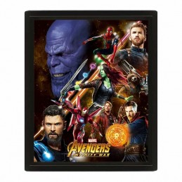 Cuadro Poster 3D AVENGERS INFINITY WAR UNITED