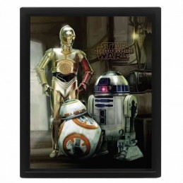 Cuadro Poster 3D STAR WARS DROIDES