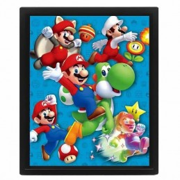 Cuadro Poster 3D POWER UP SUPER MARIO