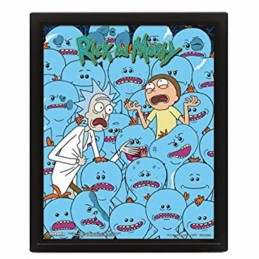 Cuadro Poster 3D RICK & MORTY MR. MEESEEKS