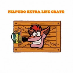 FELPUDO EXTRA LIFE CRATE - CRASH BANDICOOT