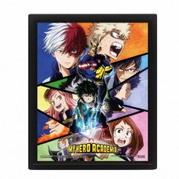 Cuadro Poster 3D MY HERO ACADEMIA Characters Mosaic