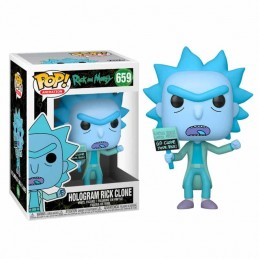 Funko POP Rick & Morty HOLOGRAM RICK CLONE 659