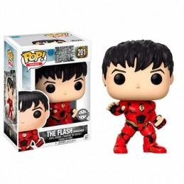 Funko POP THE FLASH Sin MÁSCARA 201 La Liga de la Justicia DC Comics EXCLUSIVE