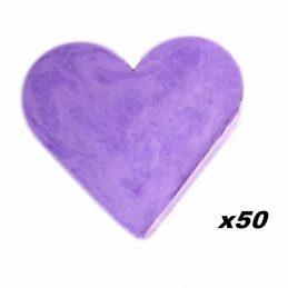 50 x Jaboncito Corazón Lavanda