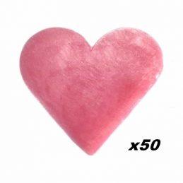 50 x Jaboncito Corazón Rosas