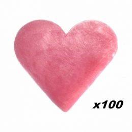 100 x Jaboncito Corazón Rosas